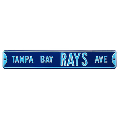 Tampa Bay Rays Authentic Street Signs 6 x 36 Steel Team Street Sign