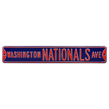 Washington Nationals Navy Authentic Street Signs 6 x 36 Steel Team Street Sign