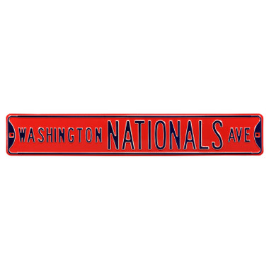 Washington Nationals Red Authentic Street Signs 6 x 36 Steel Team Street Sign