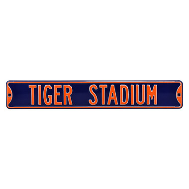 Tiger Stadium Authentic Street Signs 6 x 36 Steel Street Sign