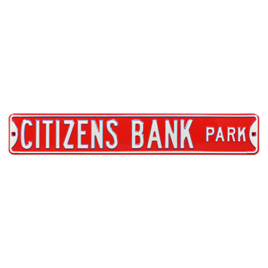 Citizen's Bank Park Authentic Street Signs 6 x 36 Steel Street Sign
