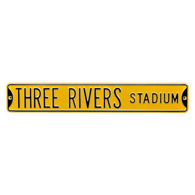 Three Rivers Stadium Authentic Street Signs 6 x 36 Steel Street Sign