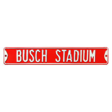 Busch Stadium Authentic Street Signs 6 x 36 Steel Street Sign