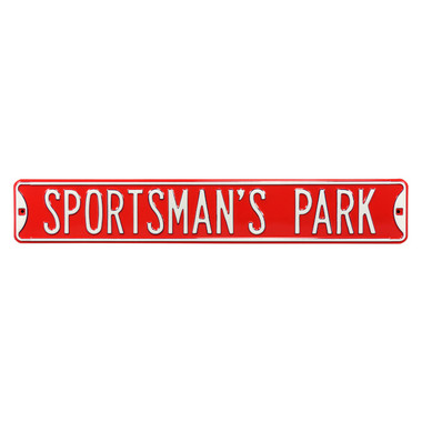 Sportsmans Park Authentic Street Signs 6 x 36 Steel Street Sign