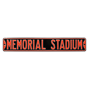 Memorial Stadium Authentic Street Signs 6 x 36 Steel Street Sign