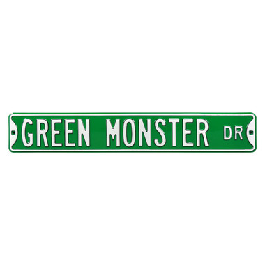 Green Monster Authentic Street Signs 6 x 36 Steel Street Sign