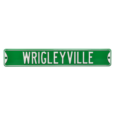 Wrigleyville Authentic Street Signs 6 x 36 Steel Street Sign