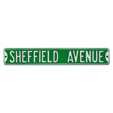 Sheffield Avenue Authentic Street Signs 6 x 36 Steel Street Sign