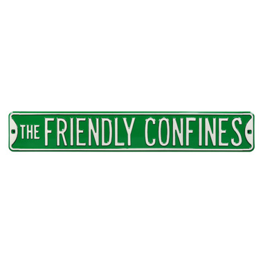 The Friendly Confines Authentic Street Signs 6 x 36 Steel Street Sign