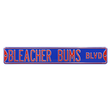 Bleacher Bums Authentic Street Signs 6 x 36 Steel Street Sign