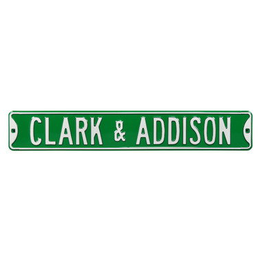 Clark and Addison Authentic Street Signs 6 x 36 Steel Street Sign