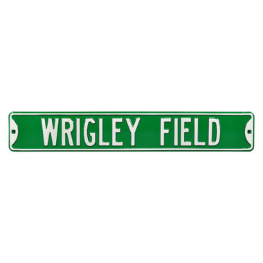Wrigley Field Green Authentic Street Signs 6 x 36 Steel Street Sign