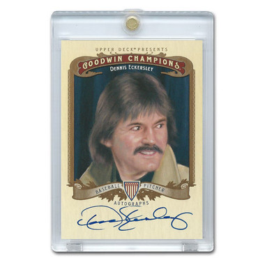 Dennis Eckerlsey Autographed Card 2012 Upper Deck Goodwin Champions # A-DE