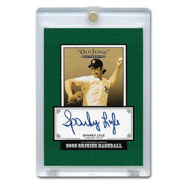 Sparky Lyle Autographed Card 2005 Upper Deck Origins Old Judge #SL