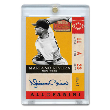 Mariano Rivera Autographed Card 2013 America's Pastime Signatures Ltd Ed of 42