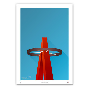 Angel Stadium #1 Minimalist Ballpark Collection 14 x 20 Fine Art Print by artist S. Preston