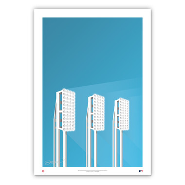 Chase Field Minimalist Ballpark Collection 14 x 20 Fine Art Print by artist S. Preston