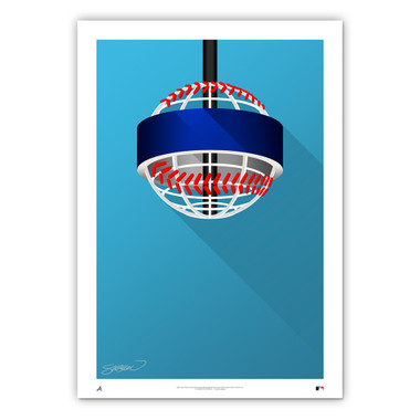 Truist Park Minimalist Ballpark Collection 14 x 20 Fine Art Print by artist S. Preston