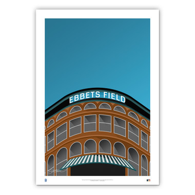 Ebbets Field Minimalist Ballpark Collection 14 x 20 Fine Art Print by artist S. Preston