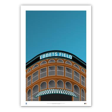 Ebbets Field Minimalist Ballpark Collection 14 x 20 Fine Art Print by artist S. Preston