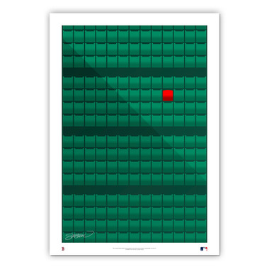 Fenway Park #2 Minimalist Ballpark Collection 14 x 20 Fine Art Print by artist S. Preston