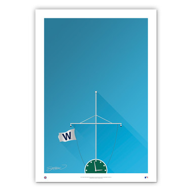 Wrigley Field #2 Minimalist Ballpark Collection 14 x 20 Fine Art Print by artist S. Preston