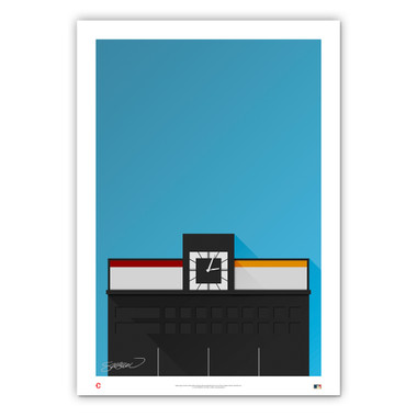 Crosley Field Minimalist Ballpark Collection 14 x 20 Fine Art Print by artist S. Preston