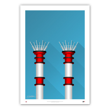 Great American Ballpark Minimalist Ballpark Collection 14 x 20 Fine Art Print by artist S. Preston
