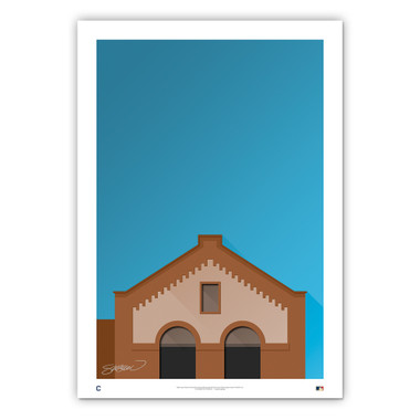 League Park Minimalist Ballpark Collection 14 x 20 Fine Art Print by artist S. Preston