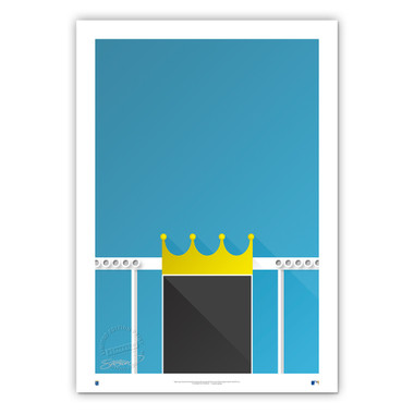Kauffman Stadium Minimalist Ballpark Collection 14 x 20 Fine Art Print by artist S. Preston
