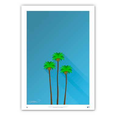 Dodger Stadium #2 Minimalist Ballpark Collection 14 x 20 Fine Art Print by artist S. Preston