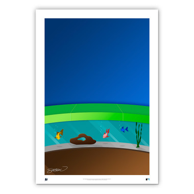 Marlins Park Minimalist Ballpark Collection 14 x 20 Fine Art Print by artist S. Preston