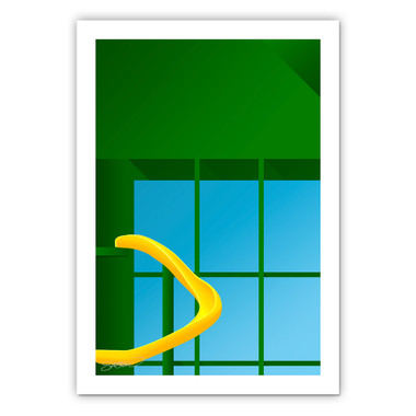 Miller Park Minimalist Ballpark Collection 14 x 20 Fine Art Print by artist S. Preston