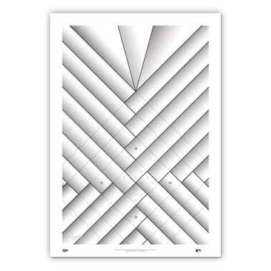 Metrodome Minimalist Ballpark Collection 14 x 20 Fine Art Print by artist S. Preston