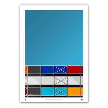 Metropolitan Stadium Minimalist Ballpark Collection 14 x 20 Fine Art Print by artist S. Preston