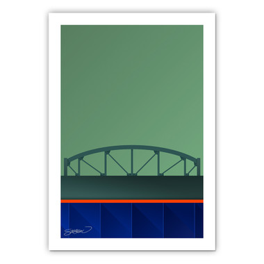 Citi Field Minimalist Ballpark Collection 14 x 20 Fine Art Print by artist S. Preston
