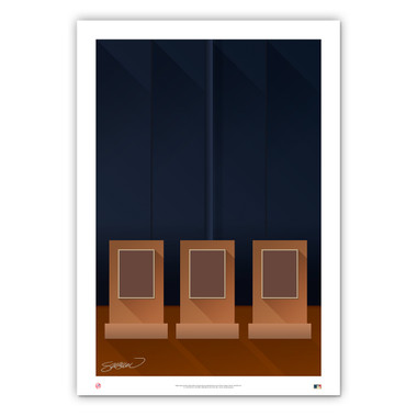 Yankee Stadium Old Minimalist Ballpark Collection 14 x 20 Fine Art Print by artist S. Preston