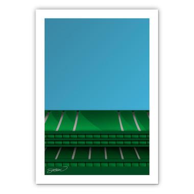 Oakland Coliseum Minimalist Ballpark Collection 14 x 20 Fine Art Print by artist S. Preston