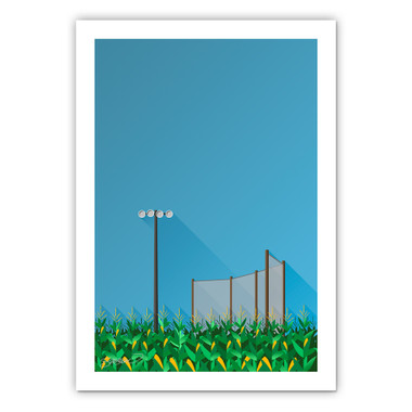 Field of Dreams Minimalist Ballpark Collection 14 x 20 Fine Art Print by artist S. Preston
