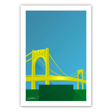 PNC Park Minimalist Ballpark Collection 14 x 20 Fine Art Print by artist S. Preston