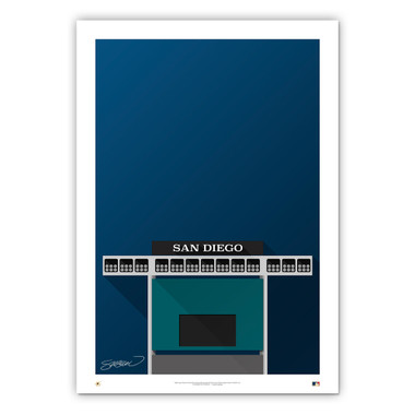 Jack Murphy Stadium Minimalist Ballpark Collection 14 x 20 Fine Art Print by artist S. Preston
