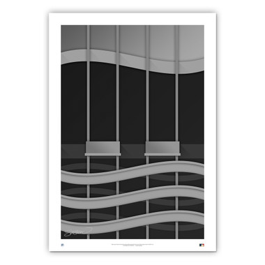 Kingdome Minimalist Ballpark Collection 14 x 20 Fine Art Print by artist S. Preston