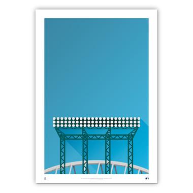 T-Mobile Park Minimalist Ballpark Collection 14 x 20 Fine Art Print by artist S. Preston
