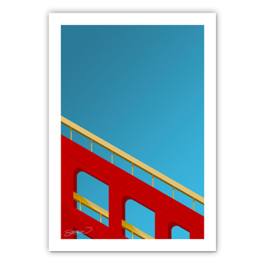 Candlestick Park Minimalist Ballpark Collection 14 x 20 Fine Art Print by artist S. Preston