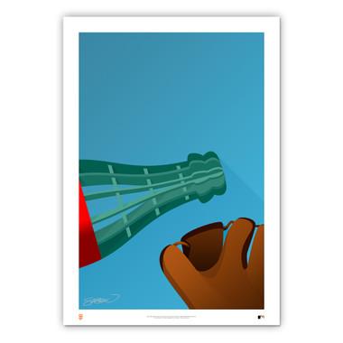 Oracle Park #1 Minimalist Ballpark Collection 14 x 20 Fine Art Print by artist S. Preston