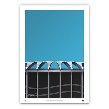 Busch Stadium #2 Minimalist Ballpark Collection 14 x 20 Fine Art Print by artist S. Preston