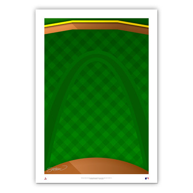 Busch Stadium #1 Minimalist Ballpark Collection 14 x 20 Fine Art Print by artist S. Preston