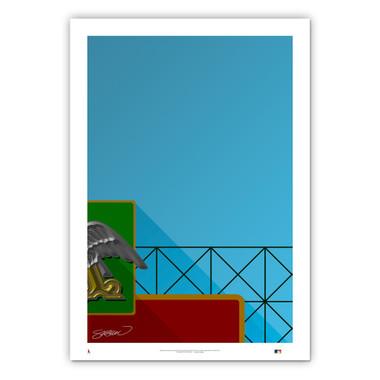 Sportsmans Park Minimalist Ballpark Collection 14 x 20 Fine Art Print by artist S. Preston