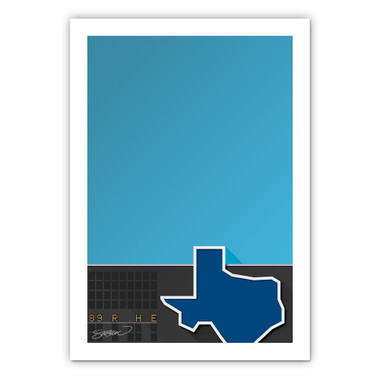 Ballpark in Arlington Minimalist Ballpark Collection 14 x 20 Fine Art Print by artist S. Preston