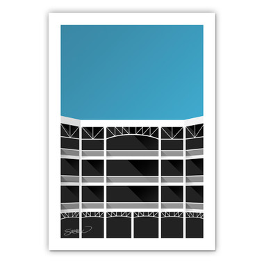 Rangers Ballpark Minimalist Ballpark Collection 14 x 20 Fine Art Print by artist S. Preston